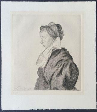 Gravure, femme savoyarde, André Jacques