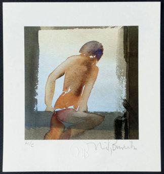 """Lithographie offset """"Rückenakt"""", Nils Burwitz"""