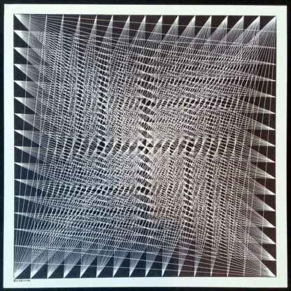 Sérigraphie, composition géométrique, Lucile Roebuck