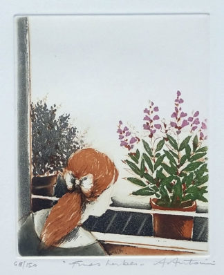 "La gravure ""Fines herbes"" d'Annapia Antonini"