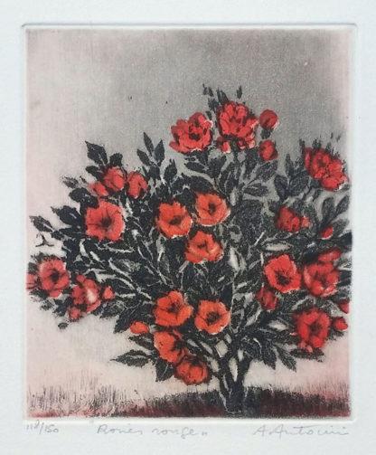 """La gravure """"Roses rouges"""" d'Annapia Antonini"""