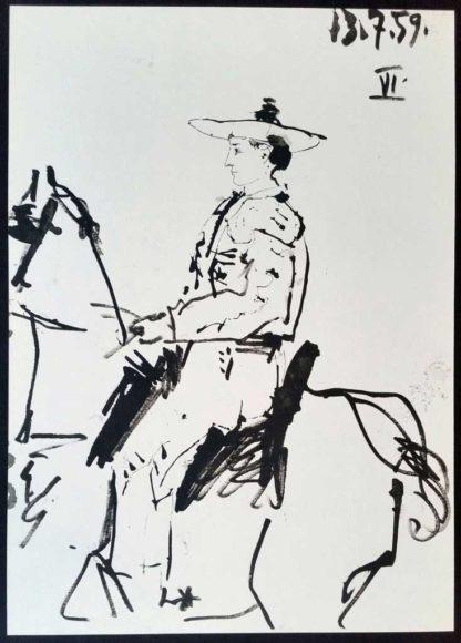 Toreros, lithographie, Pablo Picasso