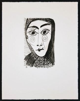 Portrait d'une femme, Lithographie, Pablo Picasso