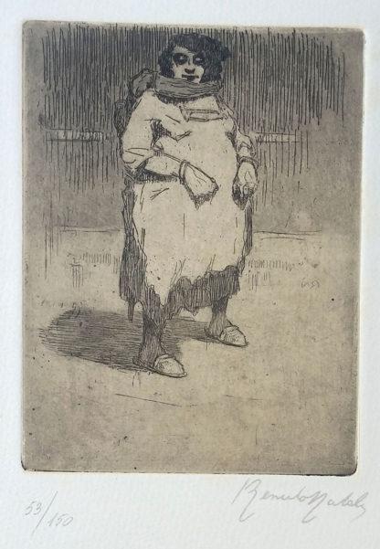 "Gravure ""Donna grassa"" de Renato Natali"
