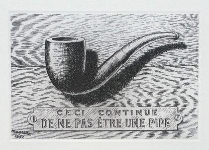 """La gravure """"La Trahison des images"""" de René Magritte"""