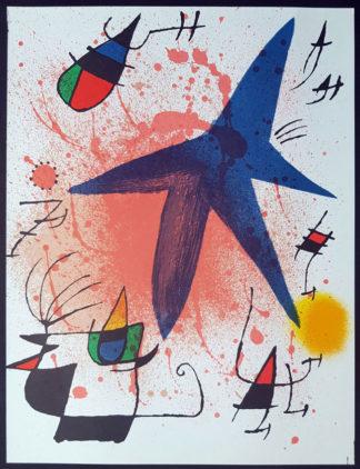 """Lithographie """"Original I"""" (l'astre bleu), Joan Miró"""
