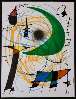"""Lithographie """"Original V"""" (la lune verte) de Joan Miró"""