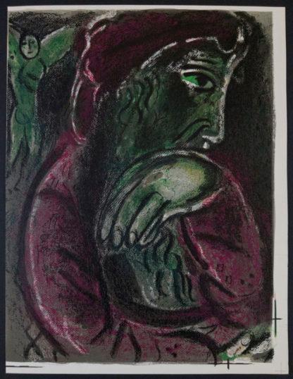 """Lithographie """"Job désespéré"""", Marc Chagall"""