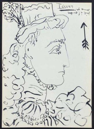 Profil d'une femme, lithographie, Pablo Picasso