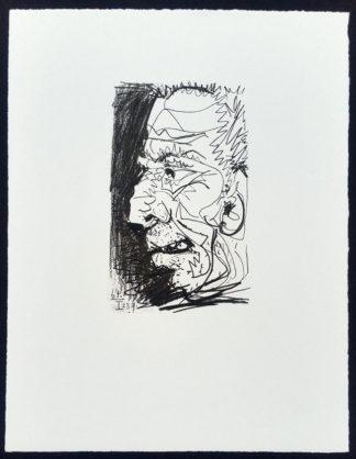 Profil d'un vieil homme, lithographie, Pablo Picasso