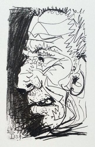 Lithographie, Profil d'un vieil homme, Pablo Picasso
