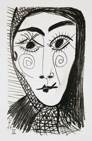 Lithographie, Portrait d'une femme, Pablo Picasso