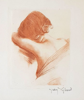 """Gravure """"Petit chagrin"""" de Jean Vyboud."""
