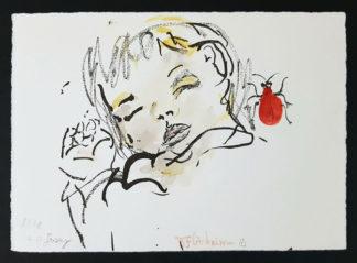 "Estampe aquarellée ""Jersey"" de Daniela Flörsheim"
