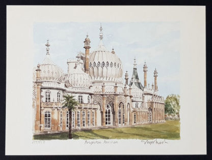 "Impression giclée ""Brighton Pavilion"" de Glyn Martin."