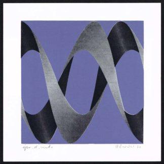 Lithographie abstraite, sans titre (HWL01), de Hawoli