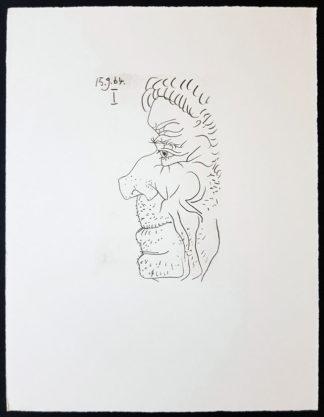 Profil d'un homme, lithographie, Pablo Picasso