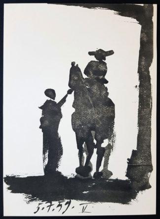 Toreros (silhouette), lithographie, Pablo Picasso