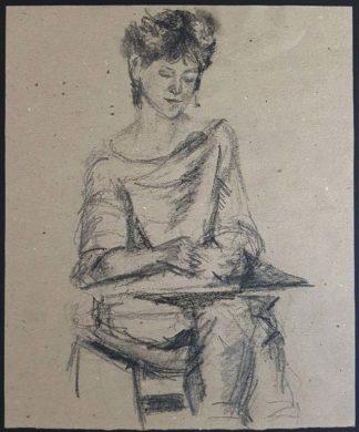 Dessin, femme assise (pièce unique)