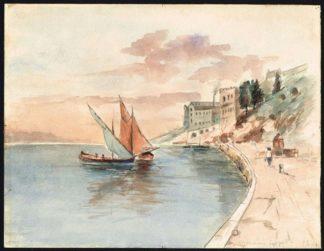 "Aquarelle ""Monaco, Le port"""