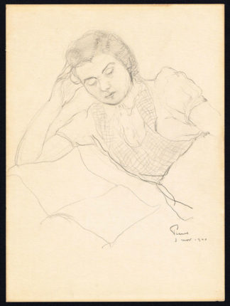 Dessin, femme allongée, 1940