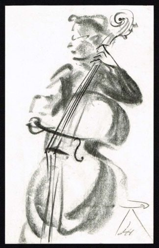 Luise Horlbogen, dessin la violoncelliste