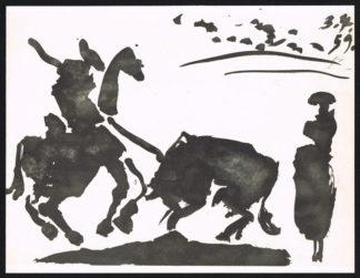 Torero et taureau, lithographie, Pablo Picasso