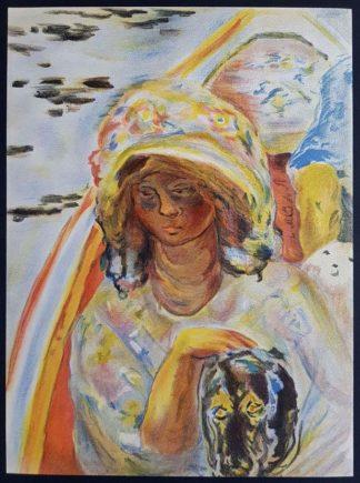 """La lithographie """"Jeune fille dans une barque"""" de Pierre Bonnard"""