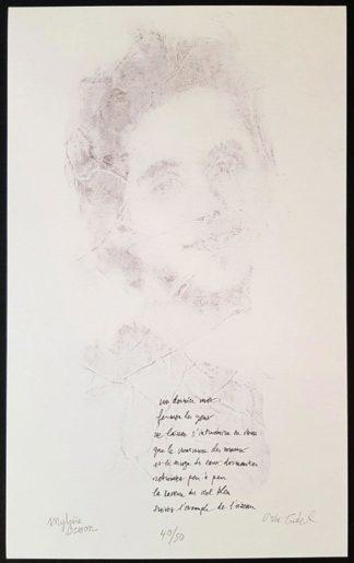 Un dernier mot, estampe de Mylène Besson